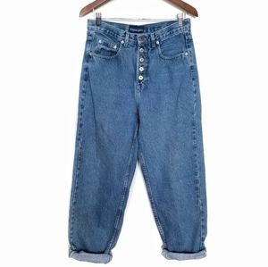 Vintage High-Rise Exposed Button Jeans Size 8/10